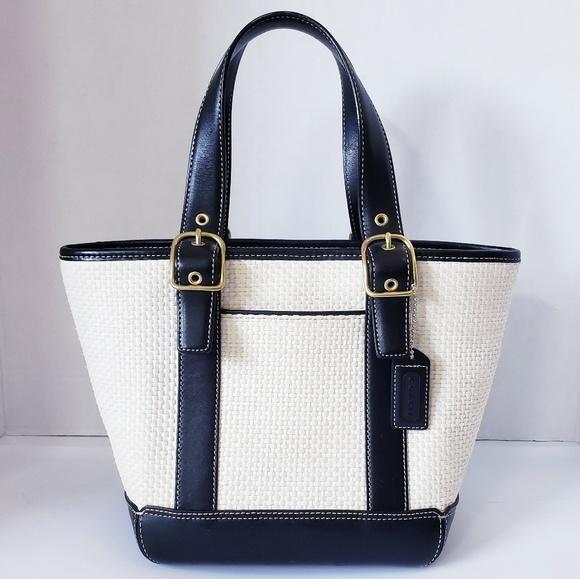 Coach Handbags - Coach Legacy 8909 Leather Basket Weave Tote